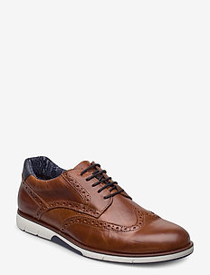 Brawl - laced shoes - tan leather