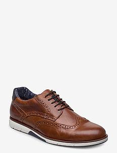 Brawl - buty sznurowane - tan leather