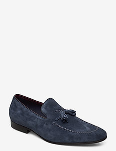 Spirited - loafers - navy - suede