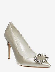 BOND - klassiska pumps - ivory-satin