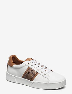 Elsie S - låga sneakers - white rept_print_leather
