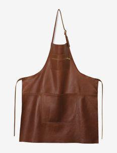 Zipper Style Apron - forklæder - classic brown