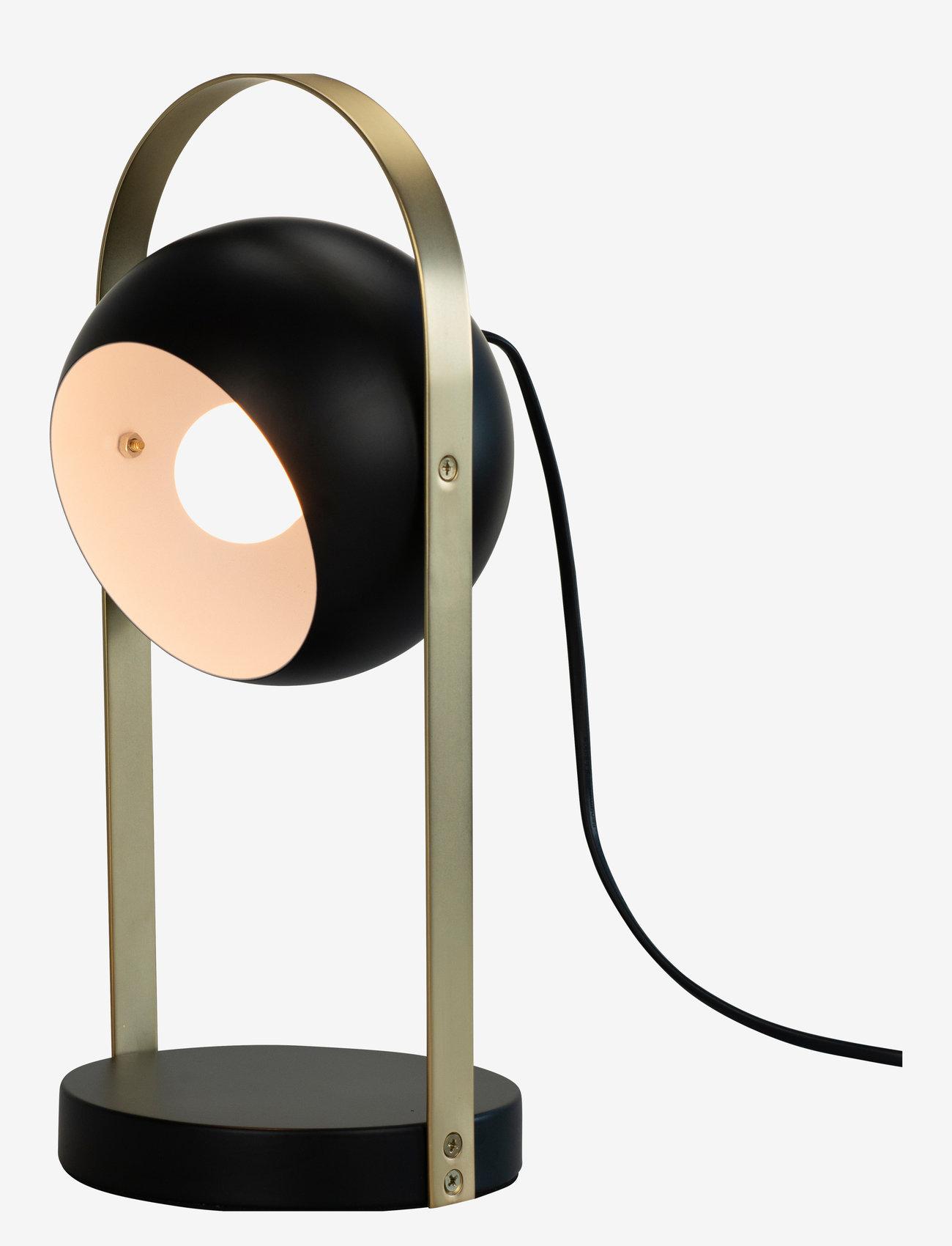 Dyberg Larsen - Geneve Tablelamp - bordlamper - black with messing - 0