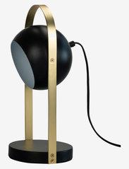 Dyberg Larsen - Geneve Tablelamp - bordlamper - black with messing - 1