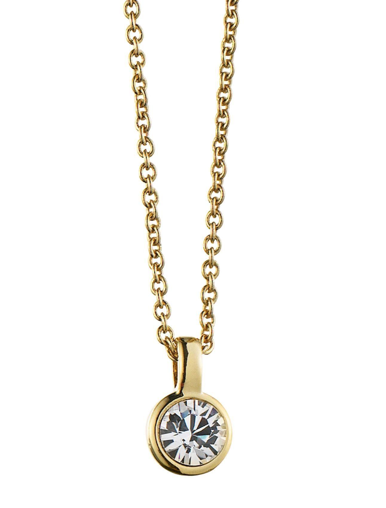 Dyrberg/Kern ette necklace - SHINY GOLD CRYSTAL