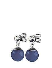 BESS - SHINY SILVER/BLUE AGATE