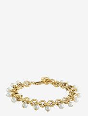 Dyrberg/Kern - CHARVI SG WHITE BRACELET - dainty - gold white - 0