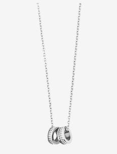 FERMI - kettingen met hanger - shiny silver crystal