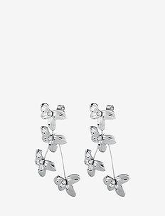 YAMATO - statement-øreringe - shiny silver