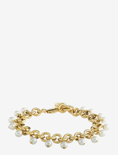 CHARVI SG WHITE BRACELET - dainty - gold white