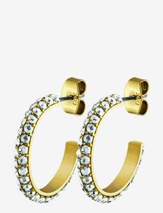 HOSTA SG CRYSTAL - hoops - gold crystal