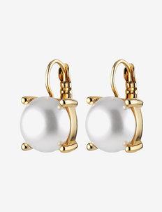 AGNETA SG WHITE PEARL - oorhangers - white pearl/gold