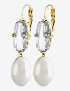ANITA SG WHITE - oorhangers - gold white