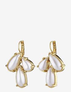 AUBIN SG WHITE - oorhangers - gold white