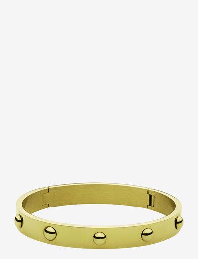 DOTT II SHINY GOLD - bangles - gold tone