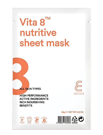 E NATURE Vita 8™ nutritive  Sheet Mask - CLEAR