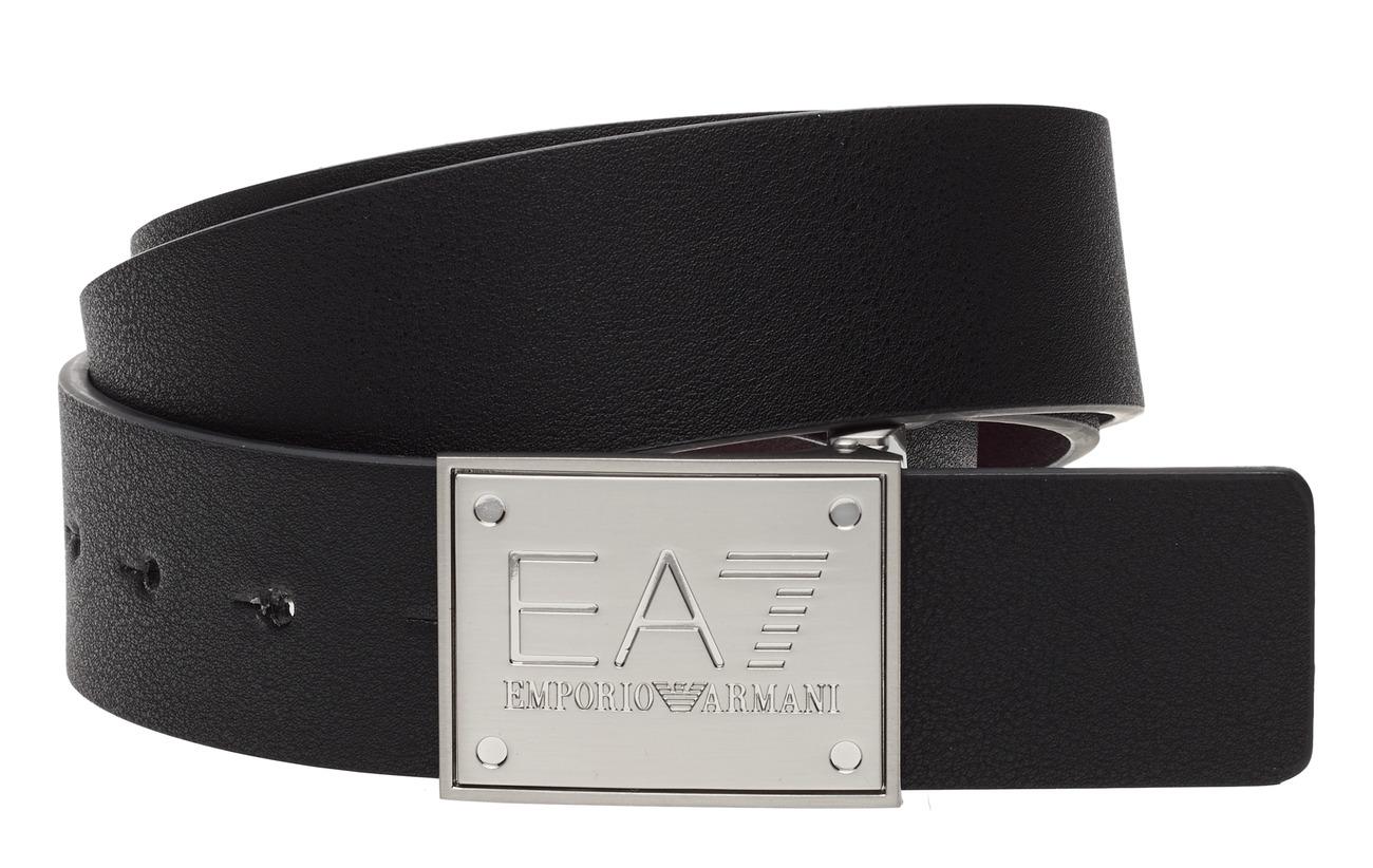 EA7 UNISEX BELT - BLACK/FUDGE
