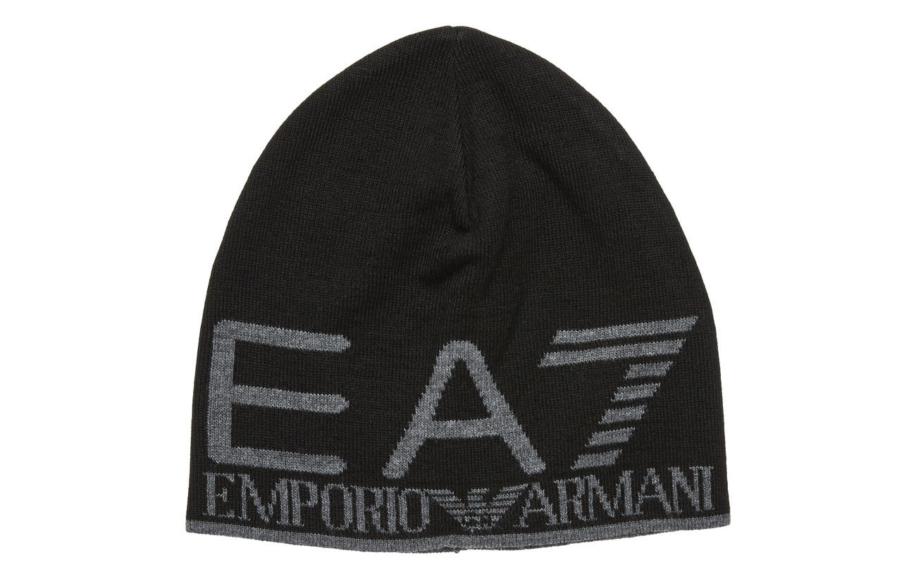 EA7 MAN'S BEANIE - BLACK/GREY