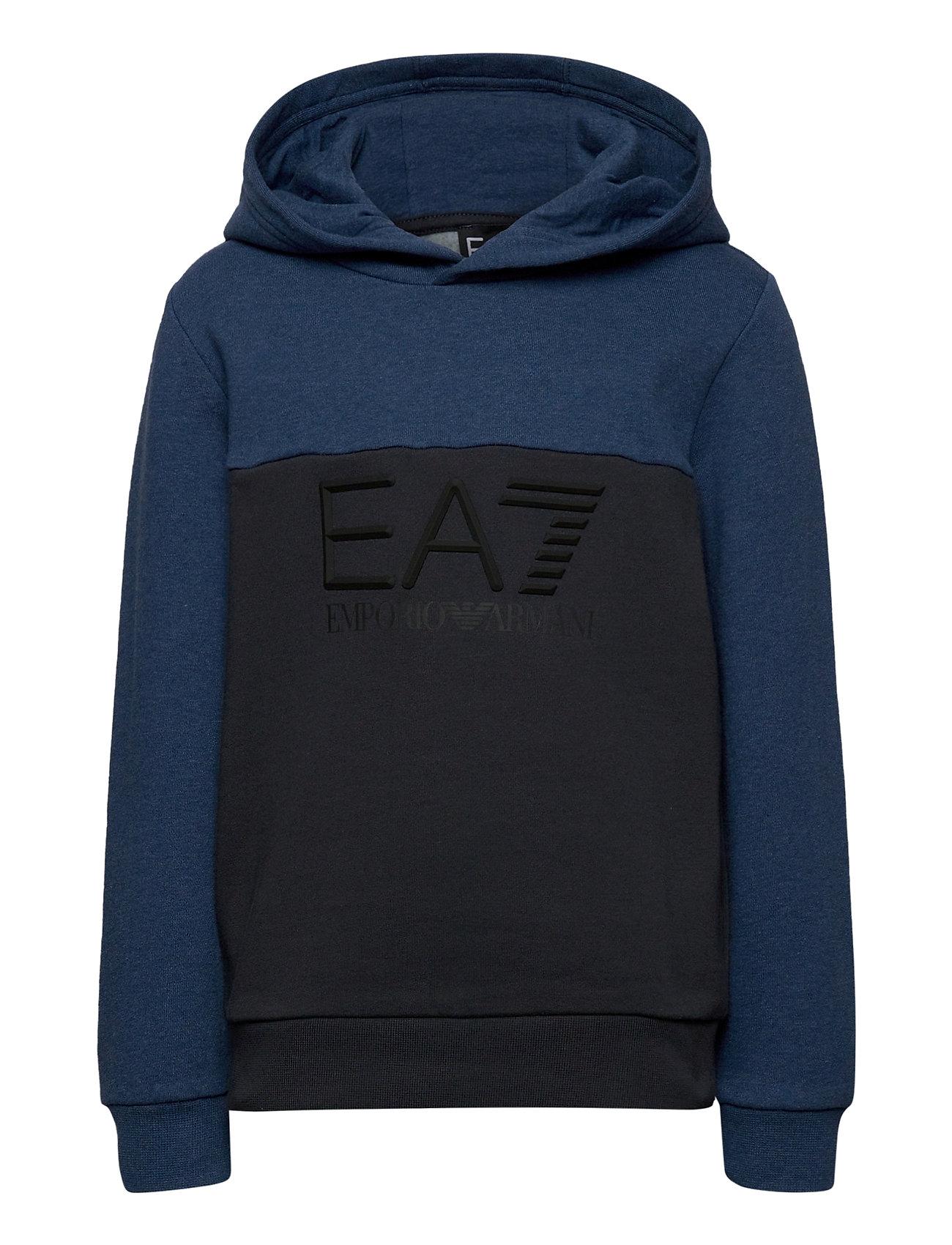 Image of Sweatshirt Hoodie Trøje Blå EA7 (3447795209)