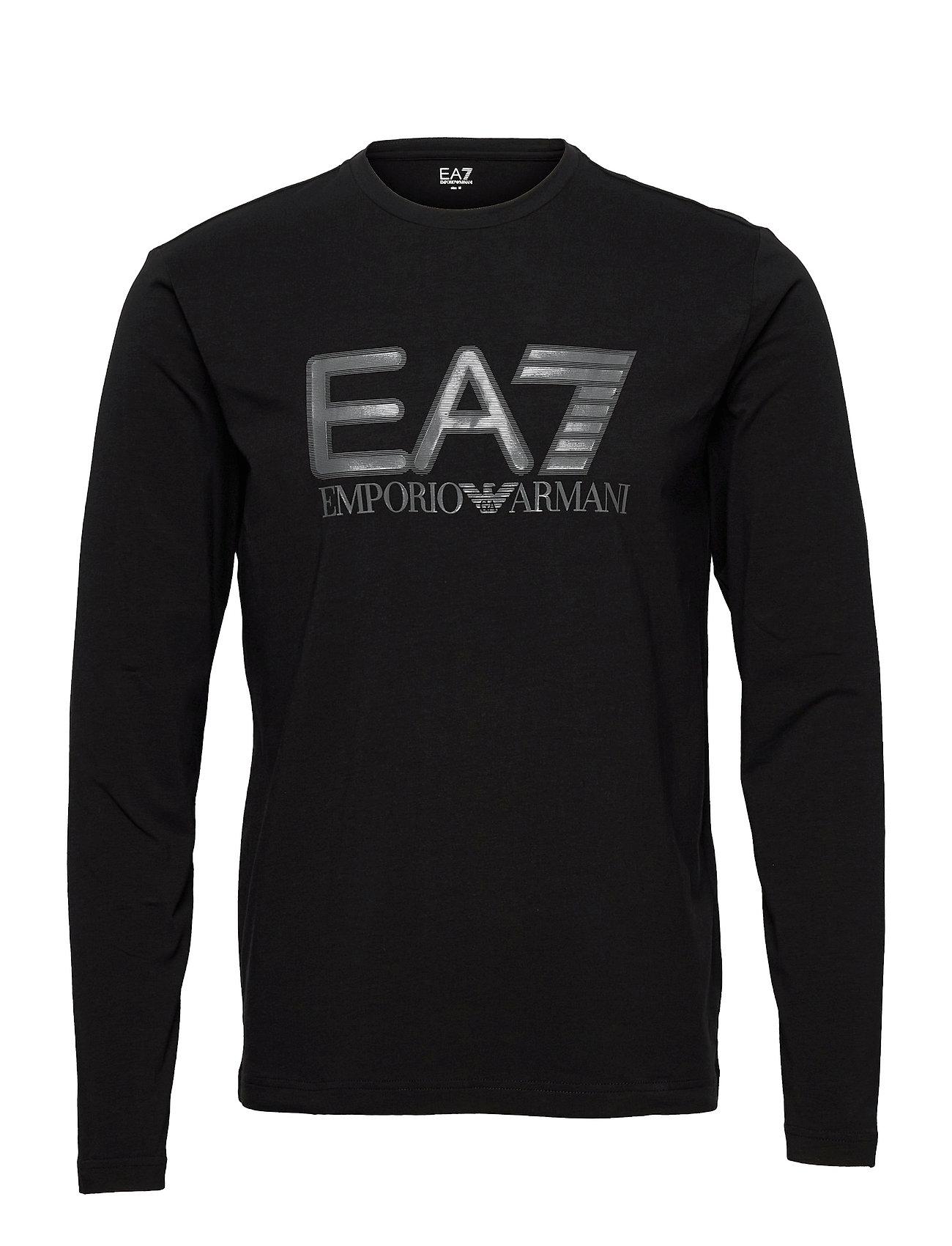 T-Shirt T-Langærmet Skjorte Sort EA7