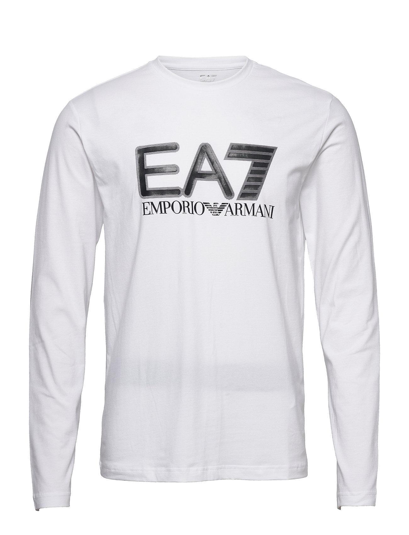 T-Shirt T-Langærmet Skjorte Hvid EA7