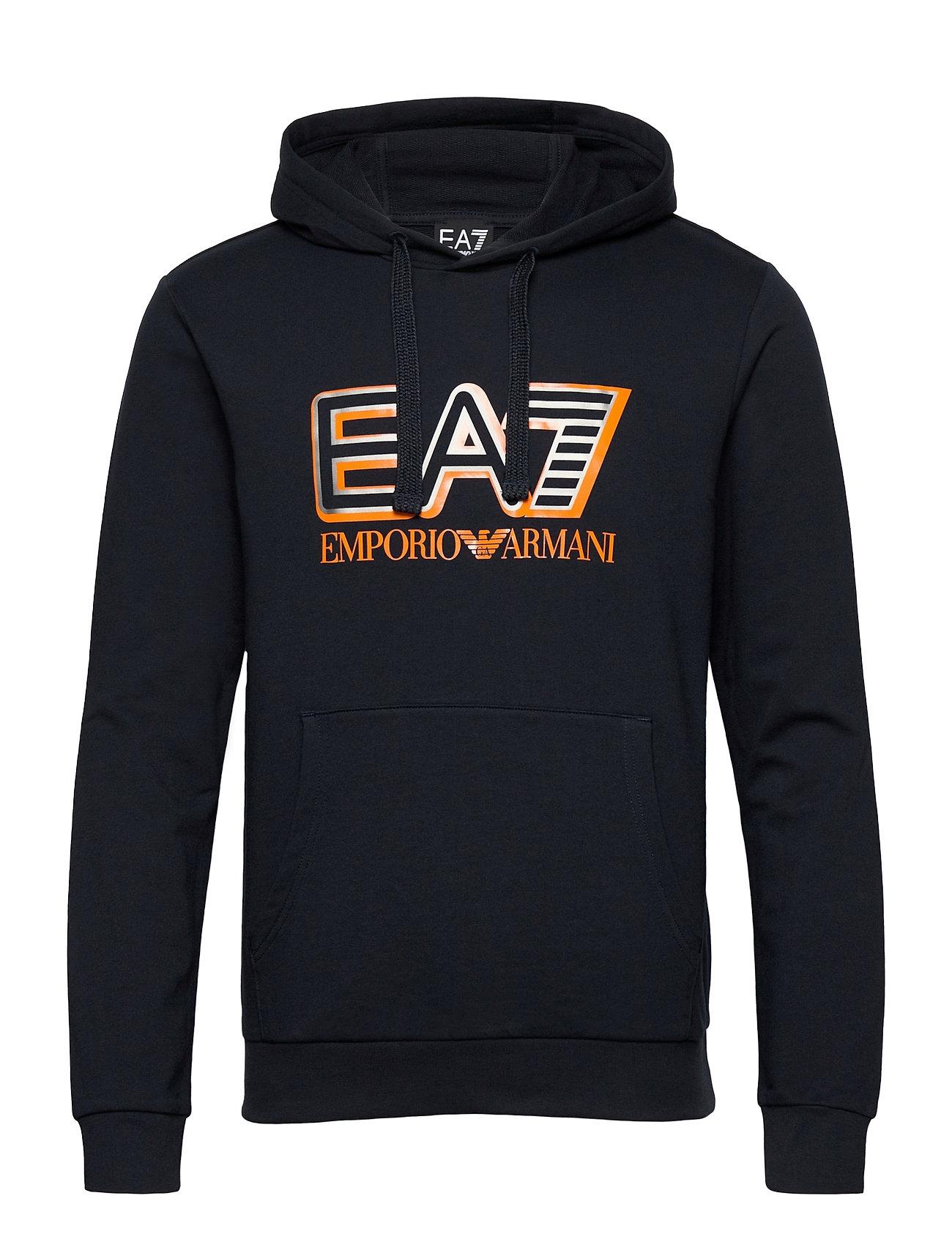 Image of Sweatshirt Hoodie Trøje Blå EA7 (3488998503)