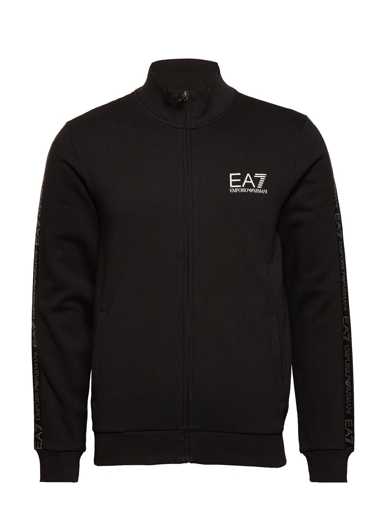 EA7 ZIP SWEATSHIRT - BLACK