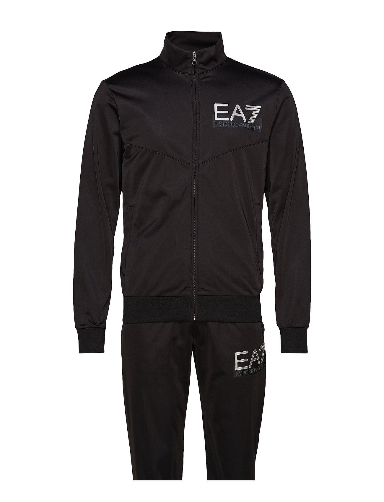 EA7 ZIP TRACK SUIT - BLACK