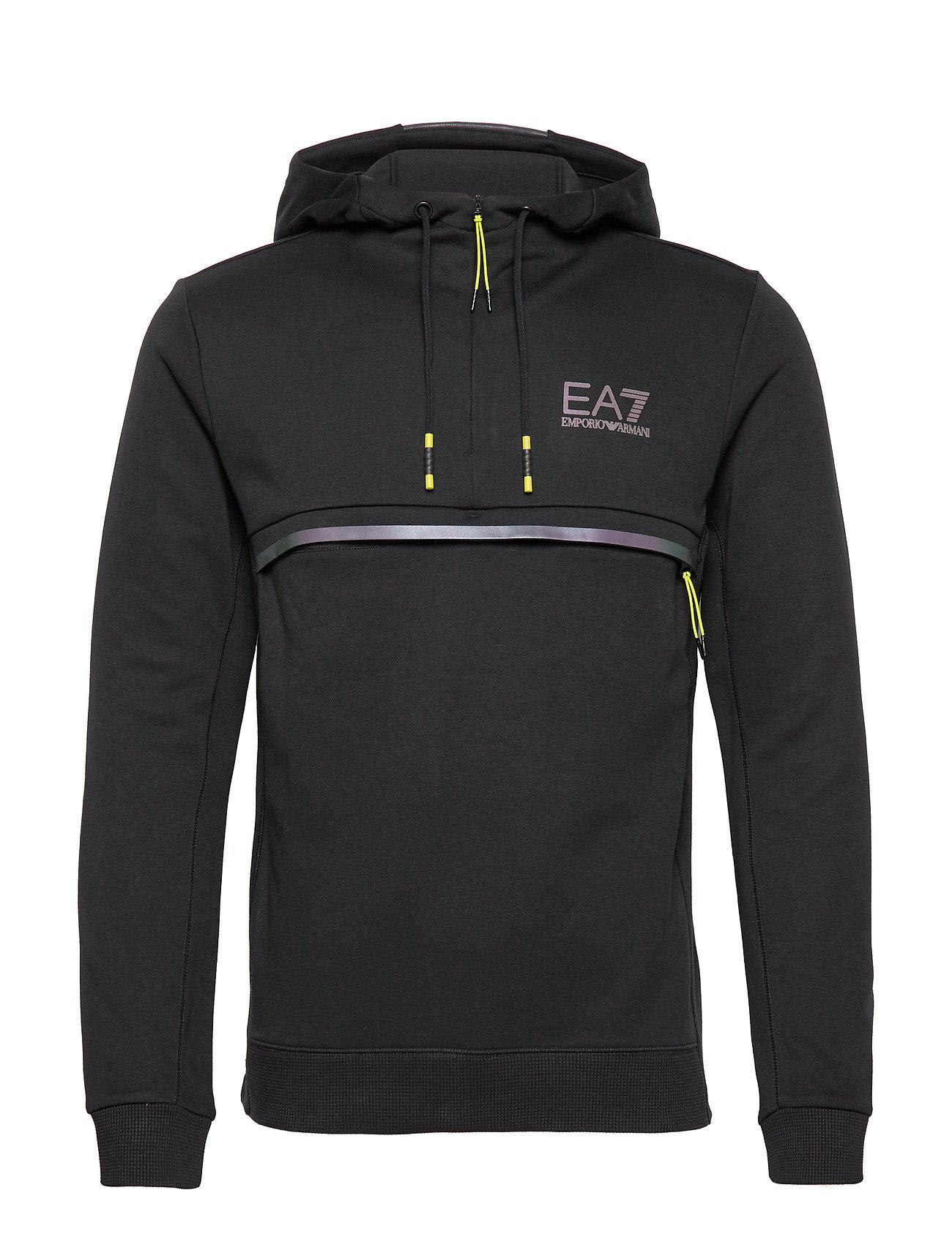 EA7 HOODIE TRANING SWEATSHIRT - BLACK