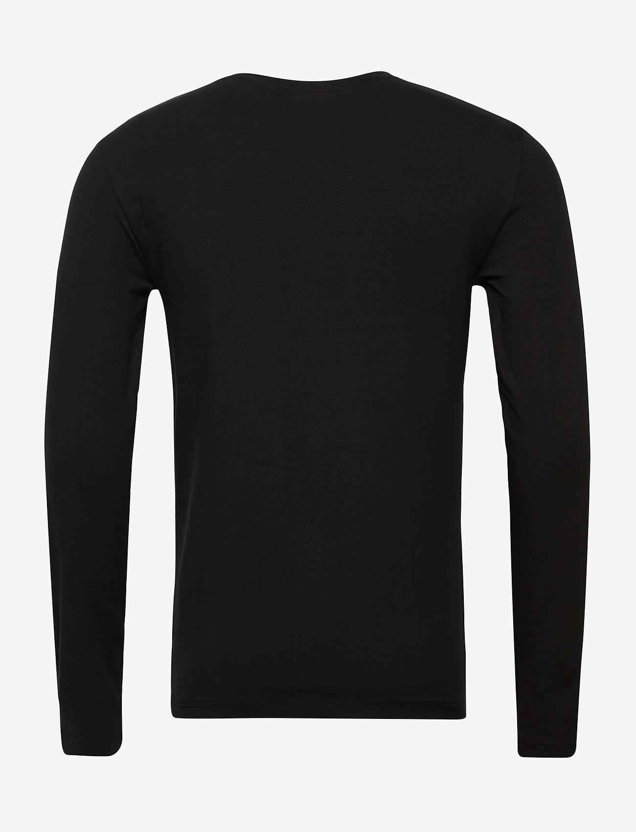 EA7 T-SHIRT - T-skjorter BLACK - Menn Klær