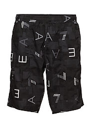 MENS WOVEN BERMUDA - 53320-STAMPA ALL-OVER NERO