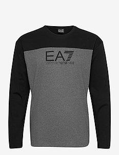 T-SHIRT - langermede t-skjorter - dark grey mel