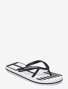 FLIP FLOP - varvassandaalit - white+black