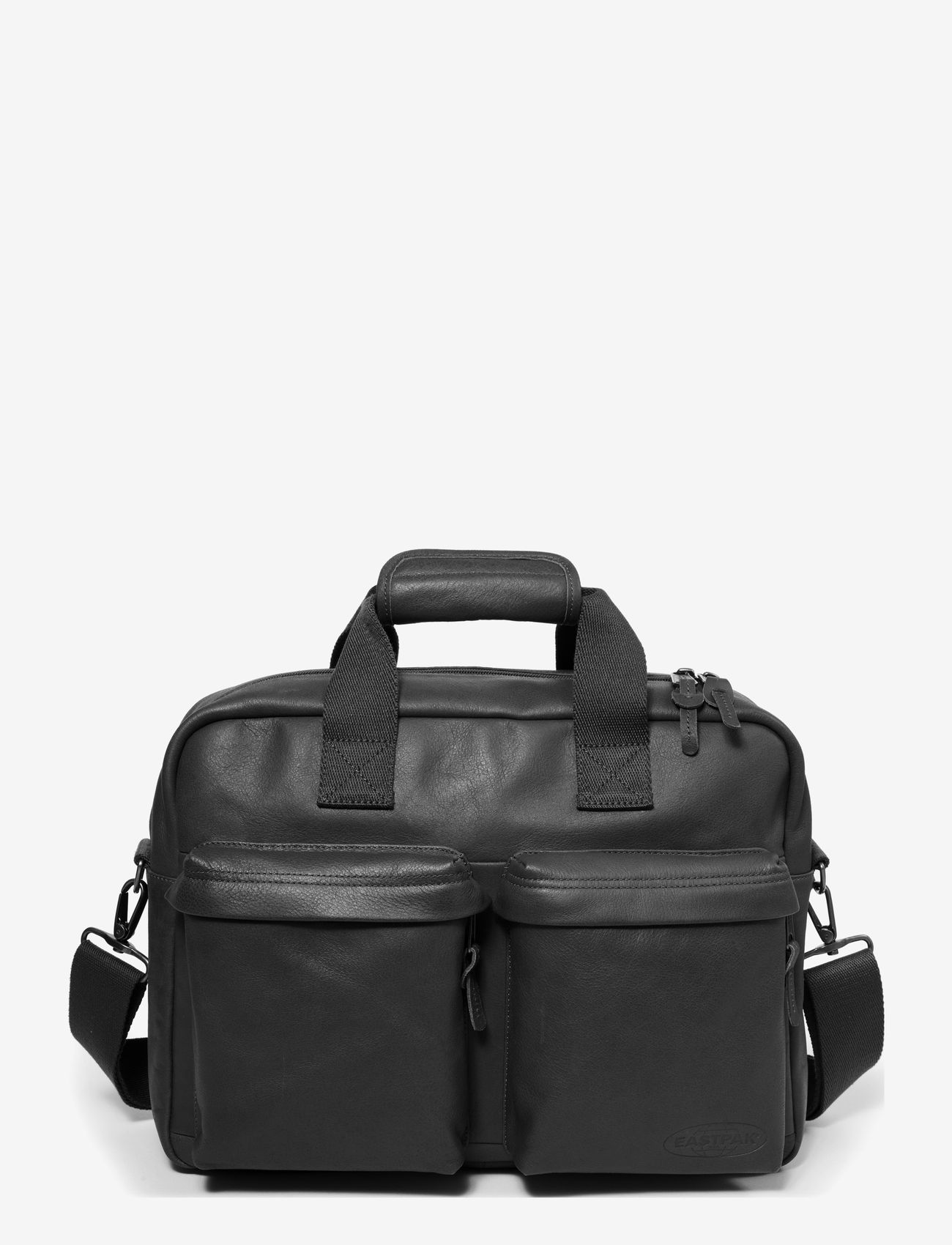 Eastpak - TOMEC - datavesker - black leather - 0