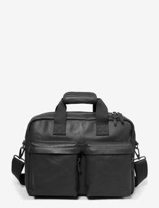 TOMEC - laptoptassen - black leather