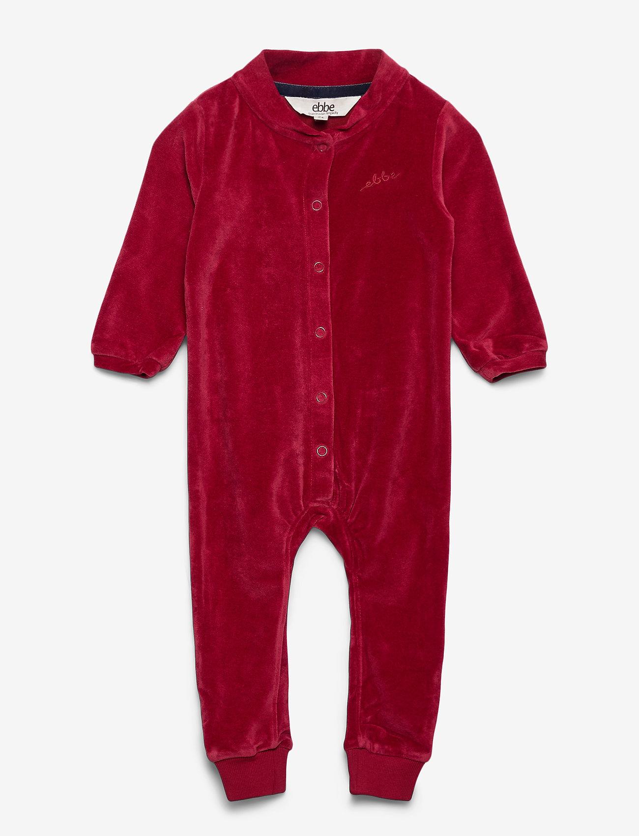ebbe Kids - Jabilo Velvet Onepiece - langärmelig - cherry red - 0