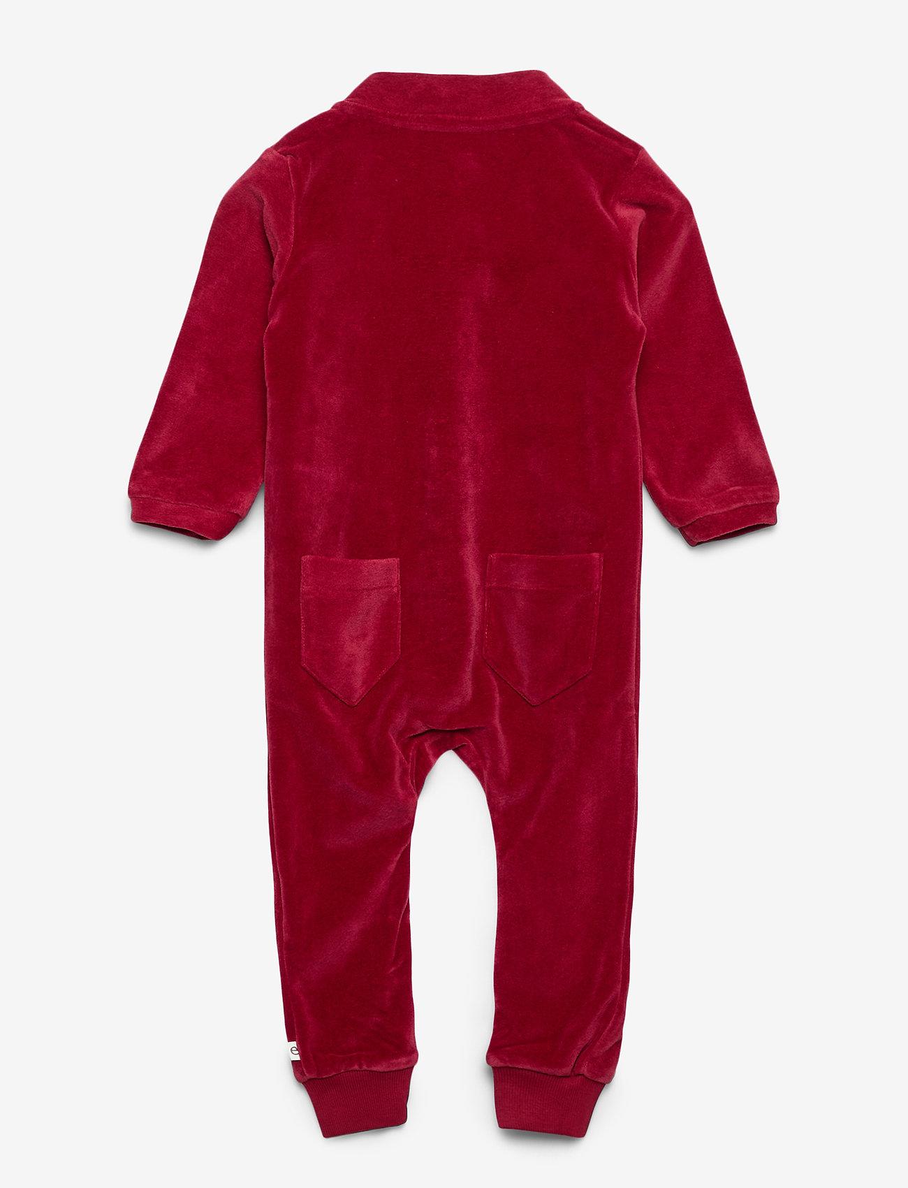 ebbe Kids - Jabilo Velvet Onepiece - langärmelig - cherry red - 1
