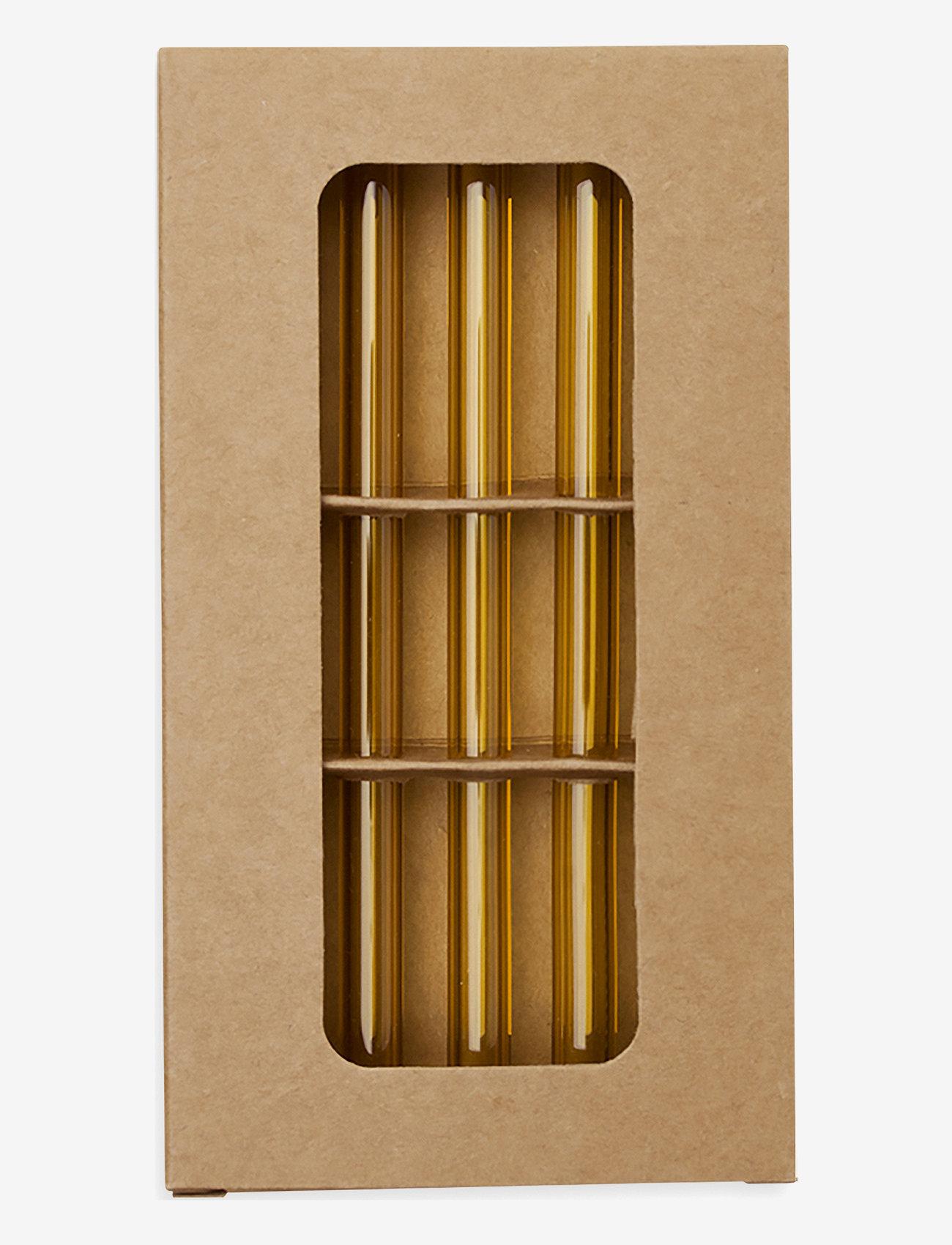 Monday Sunday - Glass Straw - shop etter pris - okker - 0