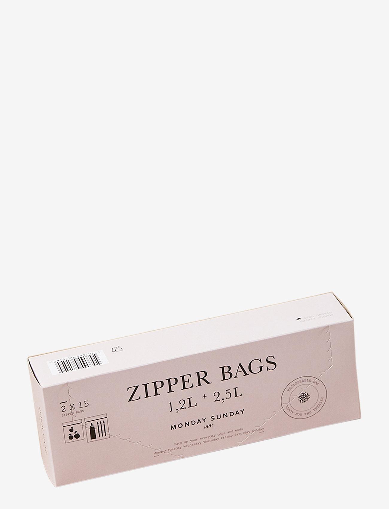 Monday Sunday - Zipper Bags Large - rangement cuisine - clear - 0