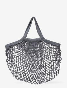 SMALL MESH BAG -GREY - tote bags - grey