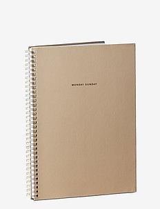 A4 notebook - fournitures de bureau - beige