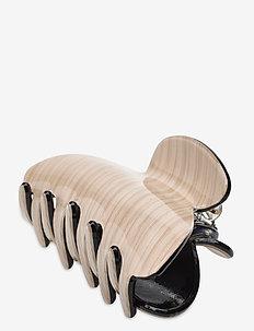 Plastic hairclip - håraccessoarer - beige
