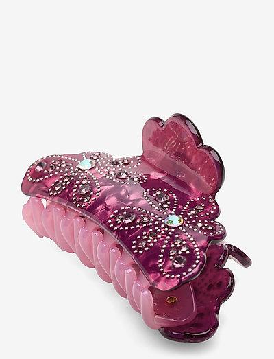 Plastic hairclip - accessories - purple