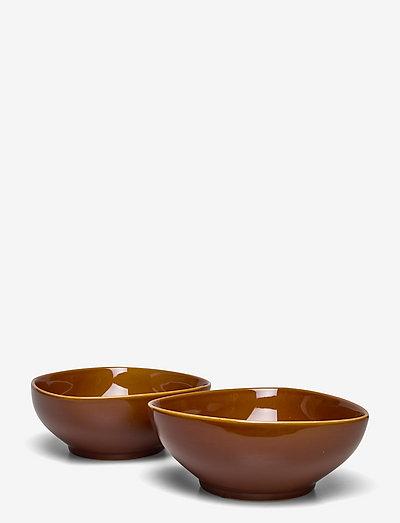 Ella Bowl - 2-Pack - frokostskåler - brown