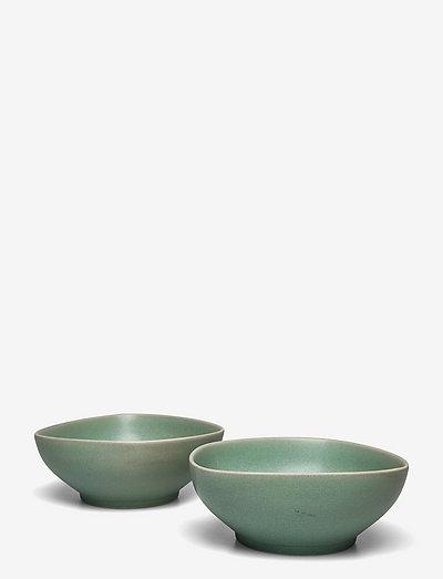 Ella Bowl - 2-Pack - frokostskåler - green