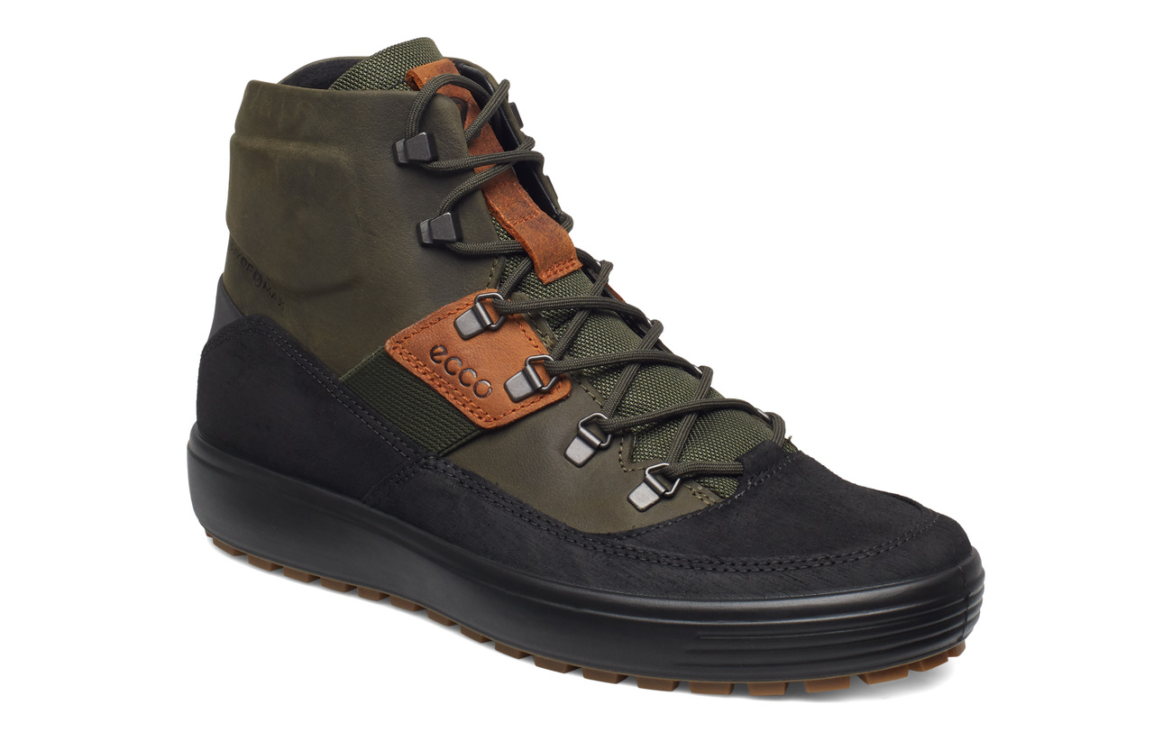ECCO SOFT 7 TRED M - BLACK/DEEP FOREST/AMBER