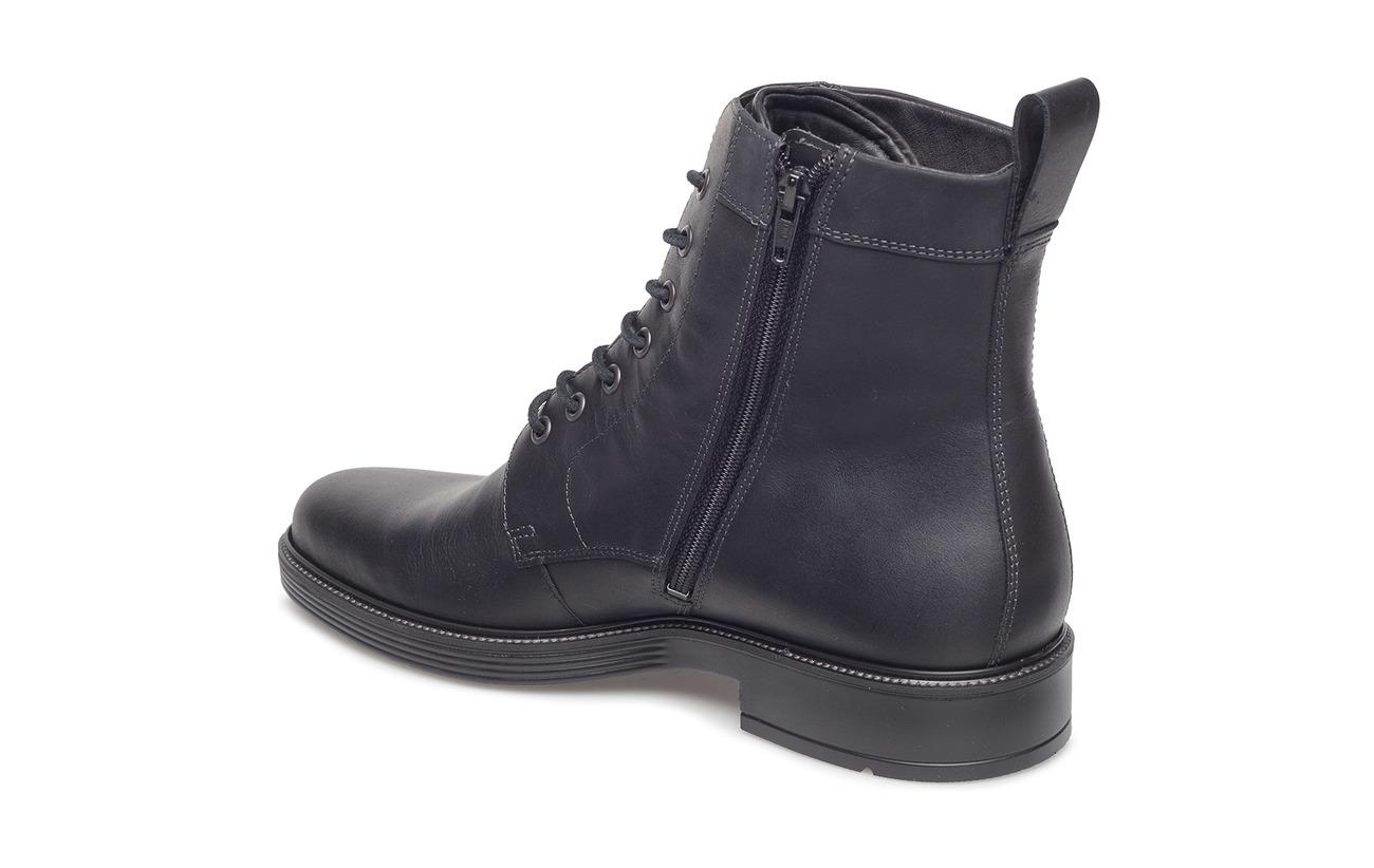 Empeigne Cuir Ecco En black Intérieure Inlay Supérieure With Polyurethane Newcastle covered Removable Grain Cuir Ecfs™ Semelle Black Full Doublure Extérieure nSYwtrYAz