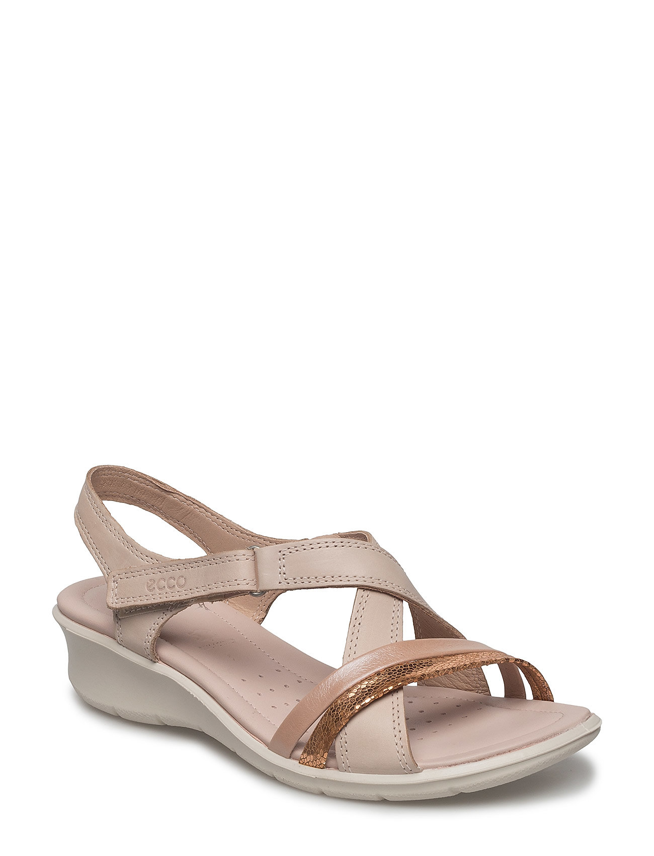 ECCO FELICIA SANDAL - MUTED CLAY/POWDER/ROSE DUST
