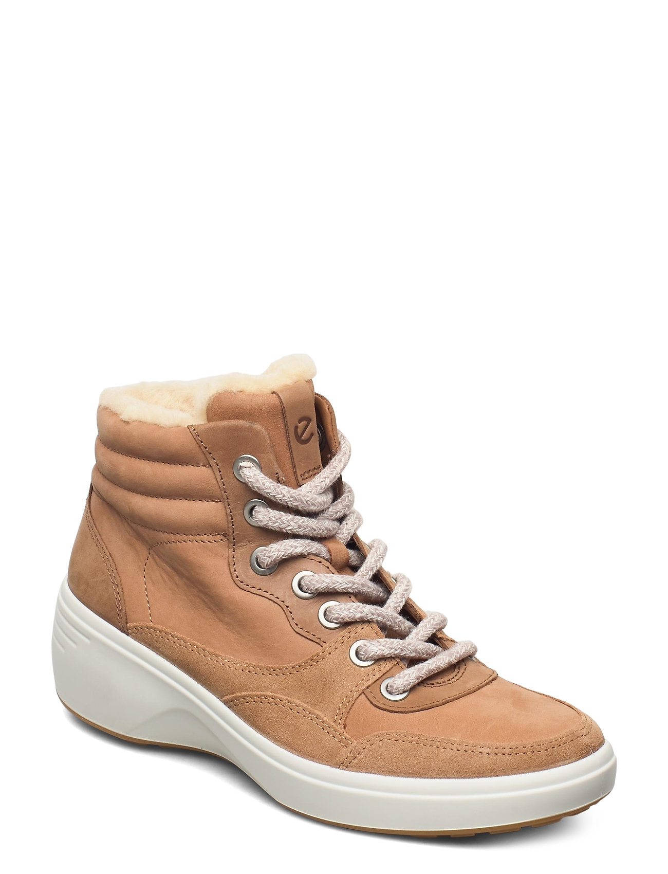 Image of Soft 7 Wedge Tred Shoes Boots Ankle Boots Ankle Boot - Flat Brun ECCO (3446803463)
