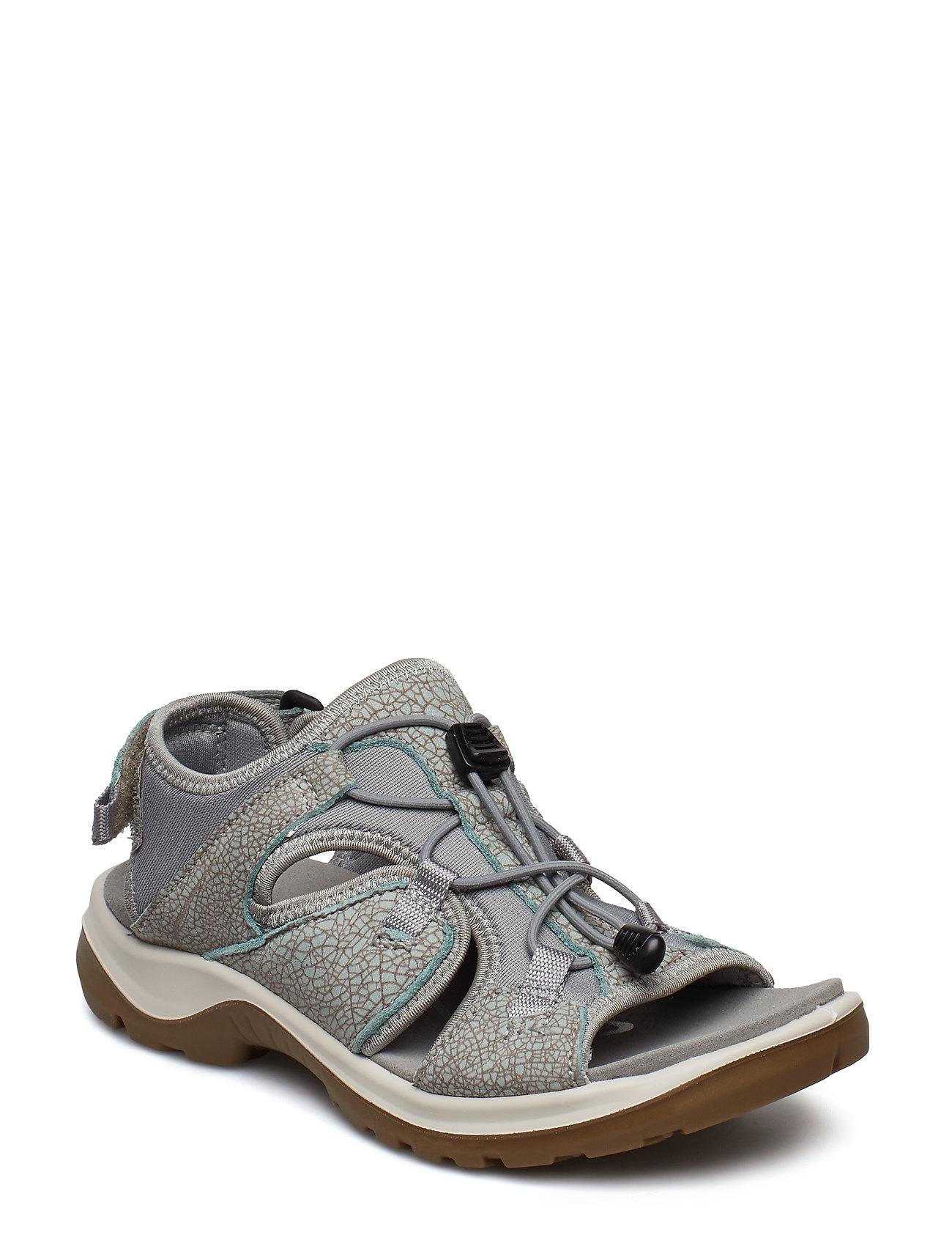 41da7d7c828 Offroad flade sandaler fra ECCO til dame i ICE FLOWER/COCOA BROWN ...